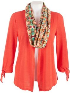 Misses Notations Loop Scarf And Duet Cardigan Notations. $29.99