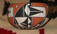 Acoma Pottery Bowl W. Garcia