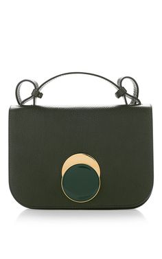 a8037acf14b6 Tea Green Shoulder Bag by MARNI Now Available on Moda Operandi Green Leather,  Calf Leather