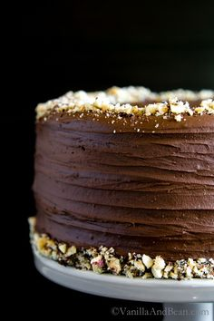Vegan Chocolate Hazelnut Cake with Whipped Ganache | Vanilla And Bean