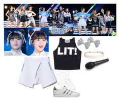 """""""Red Velvet - Dream Concert 2016"""" by rv-ohmygirl ❤ liked on Polyvore featuring Hue, adidas Originals and Humble Chic"""