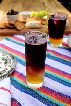 Clementine Red Wine Spritzers by joythebaker #Cocktail #Red_Wine #Clementine