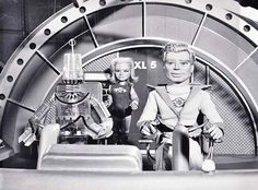 Publicity photo, from the 1960's Gerry Anderson TV series, FIREBALL XL5.