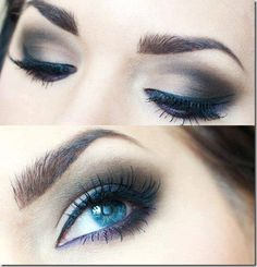 A step by step guide to apply eye makeup at home.Different eye makeup ideas for party eye makeup.eye makeup pictures,Eye shadow in three colors Makeup For Small Eyes, Blue Eye Makeup, Make Up Looks, Makeup Tips, Hair Makeup, Makeup Ideas, Makeup At Home, Applying Eye Makeup, Smokey Eye For Brown Eyes
