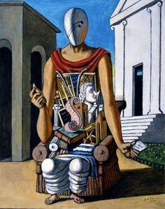 G. de Chirico (Italian, 1888-1978) - Il Pensatore - 1973 - Olio su tela - Fondazione Giorgio e Isa de Chirico, Roma