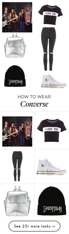 """""""Backstage with the boys"""" by beth-hemmings-1998 on Polyvore featuring Lovers + Friends, Topshop, Converse and Kin by John Lewis"""