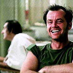 Jack Nicholson - One flew over the cuckoo's nest Jack Nicholson Gif, About Time Movie, Classic Movies, Film Movie, Art Music, Good Movies, Role Models, Movies And Tv Shows, Actors & Actresses