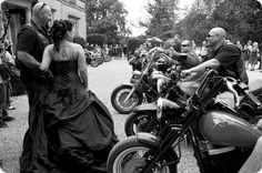 now this is a Biker Wedding!  Emerson Photography