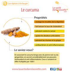La Santé dans l'Assiette: Fiche pratique - Le curcuma