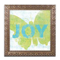 Letterpress Joy by Sue Schlabach Framed Graphic Art