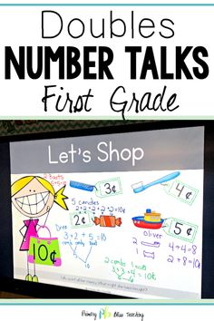 Number Talks - Doubles within 20 for Classroom and Distance Learning First Grade Lessons, First Grade Activities, Teaching First Grade, First Grade Classroom, 1st Grade Math, Math Lessons, Grade 1, Math Fact Practice, Math Talk