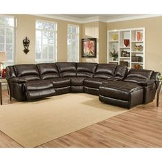 a1cdc27e323c Maddox Leather Motion Sectional Living Room Colors