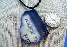 Police Box Fragment Necklace, 11th Doctor, Matt Smith, The Pandorica Opens, Whovian Necklace GenXNostalgia Eleven TARDIS