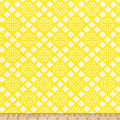 Art Gallery Fiesta Fun Zocalo Lemon from @fabricdotcom  Designed by Dana Willard for Art Gallery Fabrics, this cotton print fabric features an abstract geometric design and is perfect for quilting, apparel and home decor accents. Art Gallery Fabric features 200 thread count of finely woven cotton. Colors include yellow and white.