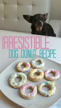 Irresistible Dog Donut Recipe from IrresistiblePets.com