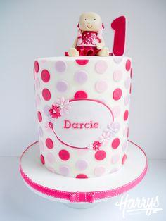 Harrys Cakes - Polka Dot Double Barrel Cake