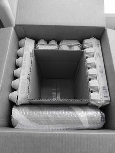 Safely packing and Shipping a Teapot or other breakables. Recycle egg boxes as packing and double box: