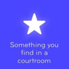 Something you find in a courtroom 94 answers