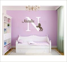 Horse Carriage Decal Custom Name Decal Fairy Tale Wall Decal Girls - Custom name vinyl wall decals   how to remove