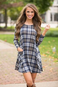 Image result for plaid wool dress