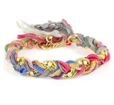 DIY: braided chain, fabric bracelet
