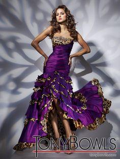 Animal Print High Low Prom Dresses