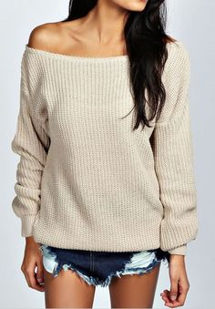 love off the shoulder tops and this sweater is fall ready! on http://www.studentrate.com/Trending