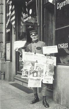 Vendeur de journaux à Berlin, 1926