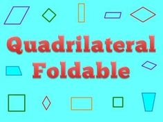 This is a great reference to glue into an interactive math journal!Some of my students were struggling with identifying certain quadrilaterals when they appeared in a different position/orientation. So I created this foldable and it has made a big differ Too Cool For School, School Fun, School Stuff, Middle School, High School, Math Resources, Math Activities, Classroom Resources, Fun Math