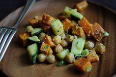 Yam, Zucchini, and Chickpea Salad recipe on Food52
