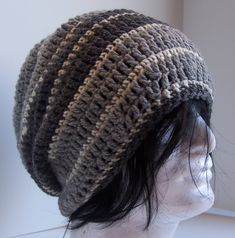 Ravelry: Sean Wide Striped Slouchy pattern by Kristina Olson