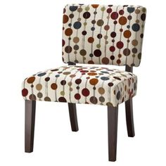 Vale Open Back Slipper Accent Chair - Primary Bubbles