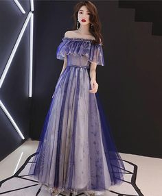 Blue tulle lace tea length prom dress, blue tulle evening dress Cute A-line short ball gown, homecoming dress Blue Evening Dresses, Prom Dresses Blue, Homecoming Dresses, Sexy Dresses, Evening Gowns, Fashion Dresses, Dresses With Sleeves, Formal Dresses, Lounge Dresses