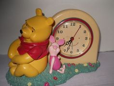 Walt Disney's Winnie the Pooh and Piglet Desk Clock