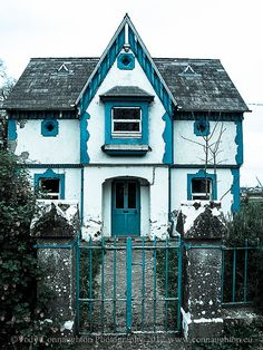 A very blue house