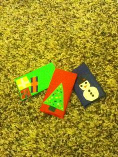 Christmas mini-bags. Cool make-a-gift idea! I<3 duck tape and Christmas!