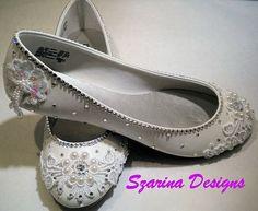 Swarovski Custom Bridal Wedding Ballet Flat