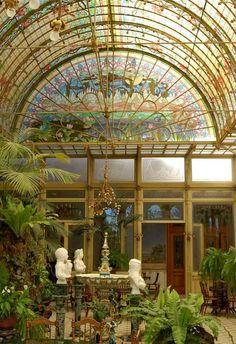Beautiful Art Nouveau Conservatory.