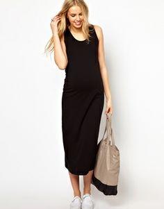 Image 4 ofASOS Maternity Maxi Dress In Stretch Fabric