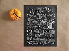 Pumpkin Pie Chalk Print : Macaroni Kid
