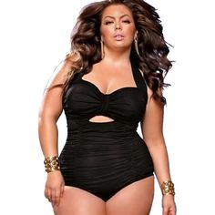 af8295f5eb6 High Waisted Swimsuit Plus Size Swimsuits