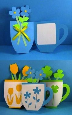 You are in the right place about simple Mothers Day Crafts for Kids Here we offer you the most beaut Mothers Day Crafts For Kids, Mothers Day Cards, Diy And Crafts, Arts And Crafts, Paper Crafts, Diy Y Manualidades, Mother's Day Diy, Spring Crafts, Flower Crafts
