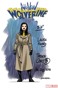 X-23 aka Laura Kinney (civvies) character sheets for All-New Wolverine by David Lopez