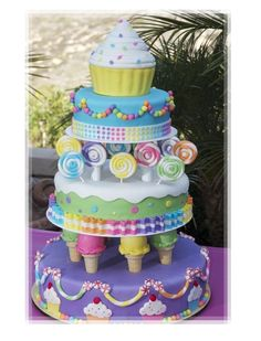 Pretty Candy Land Kid's Birthday Cake