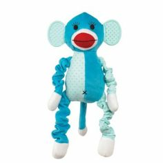 ac07feeac4 A brightly colored zanies funky monkey with funny design dog toy. Also