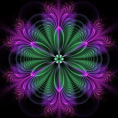 Diamond Painting Green and Purple Abstract Flower Burst Kit Fractal Design, Fractal Art, Grafic Design, 3d Drawings, Illusion Art, 5d Diamond Painting, Drawing Skills, Abstract Flowers, Psychedelic Art
