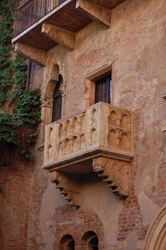 Juliet's balcony in Verona.
