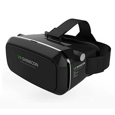 Myvision Virtual Reality VR Shinecon 3D Glasses Head Mount 3D Movies Games  For 3560 inch Phone without Bluetooth Remote Gamepad Black    Click on the  image ... 453638d428b