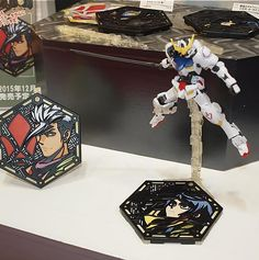 [Gundam Iron-Blooded Orphans] NEW Action Base Character Stand Plate, on display @ All Japan Model and Hobby Show 2015. Report, Info Release http://www.gunjap.net/site/?p=274666