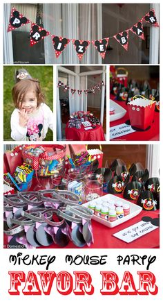 Mickey Mouse Kids Party Favor Bar: cheaper, easier, and better than a candy buffet!